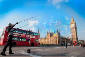 The World's Largest Bubble, London, 18th March 2015