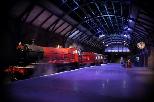 Exclusive reveal of the Hogwarts Express - at Warner Bros. Studio Tour London   (1)