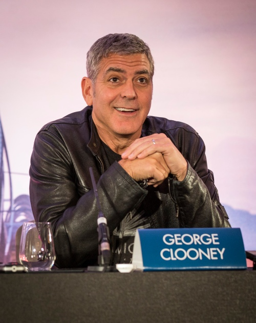 "Actor George Clooney attends the European press conference of Disney's ""Tomorrowland: A World Beyond"" on May 18 in London, UK (Credit : James Gillham / StingMedia.co.uk)"