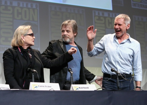 They're back! Carrie Fisher, Mark Hamill and Harrison Ford at Comic-Con