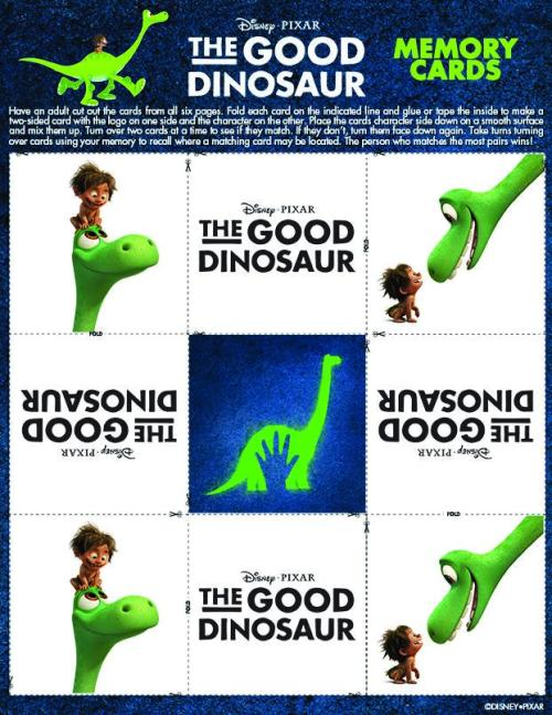 Good Dinosaur Memory Cards