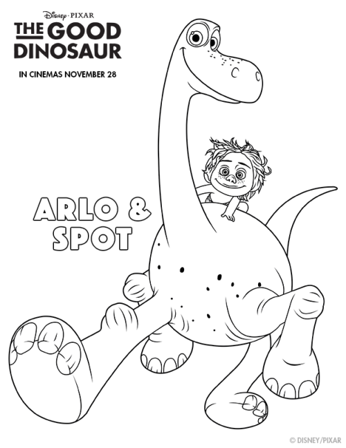 Good Dinosaur Colouring Page
