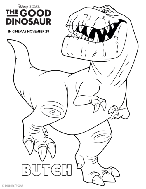 Good Dinosaur Colouring Page 2