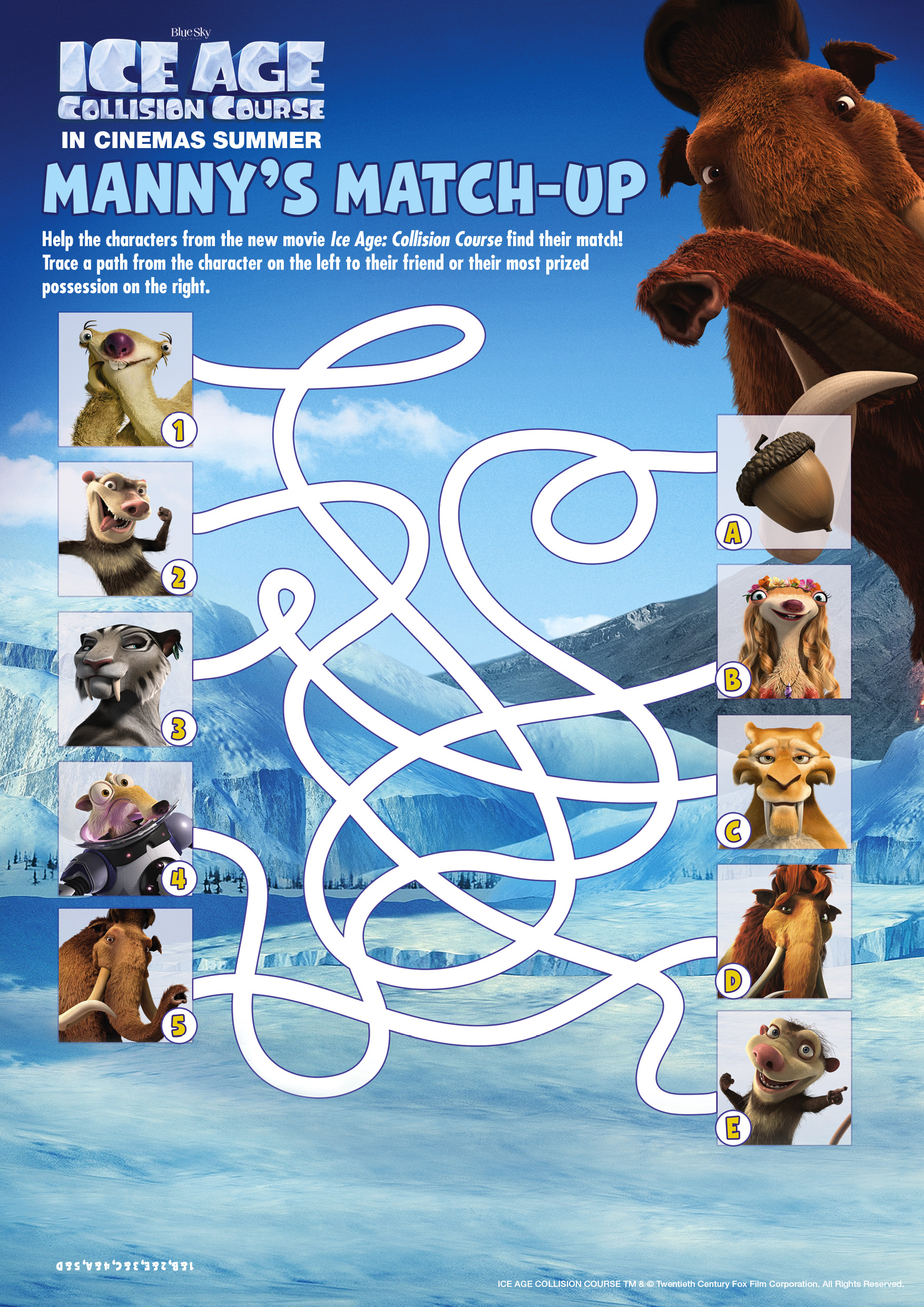 IceAge5_ActivitySheets_A3_MatchUp